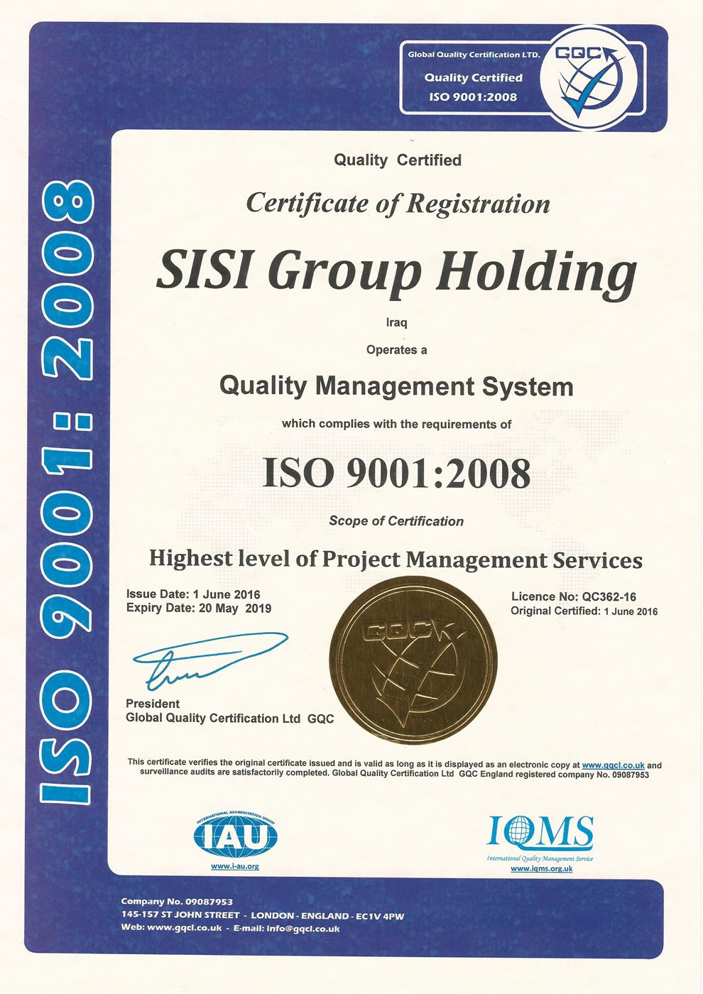 sisi group holding 9001